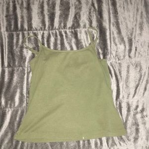 Green crop top tank top